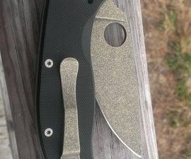 Acid/Brass/Stone Washing A Knife