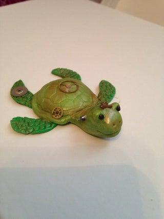 Steampunk Polymer Clay Turtle