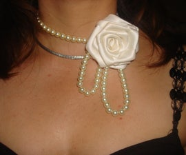 How to make a rose beaded necklace