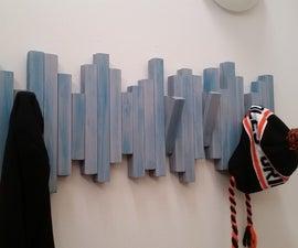 Wall Mounted Secret Coat Rack