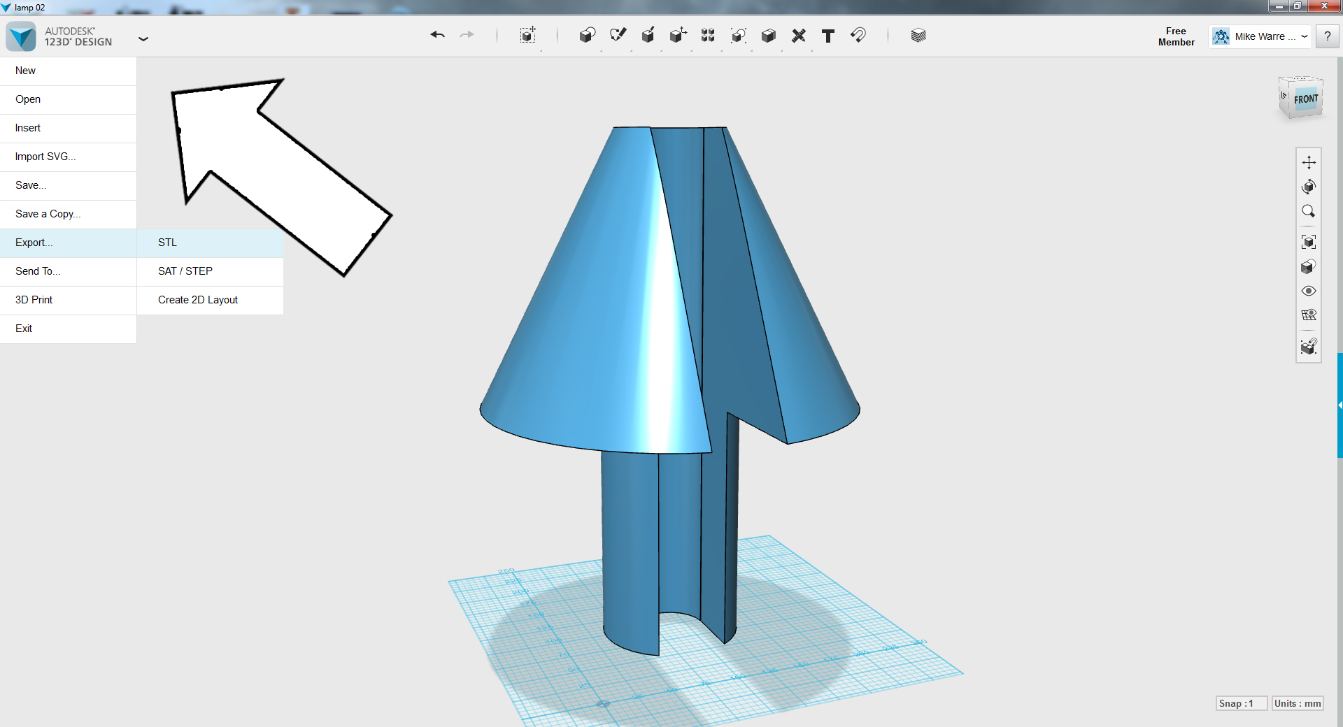 Picture of TinkerCAD - Subtract Slot Opening