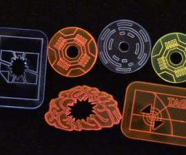 How to Design and Laser Cut Custom Game Tokens