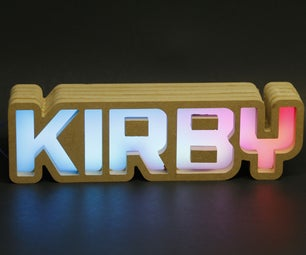 Illuminated Neopixel Sign With IR Remote Control