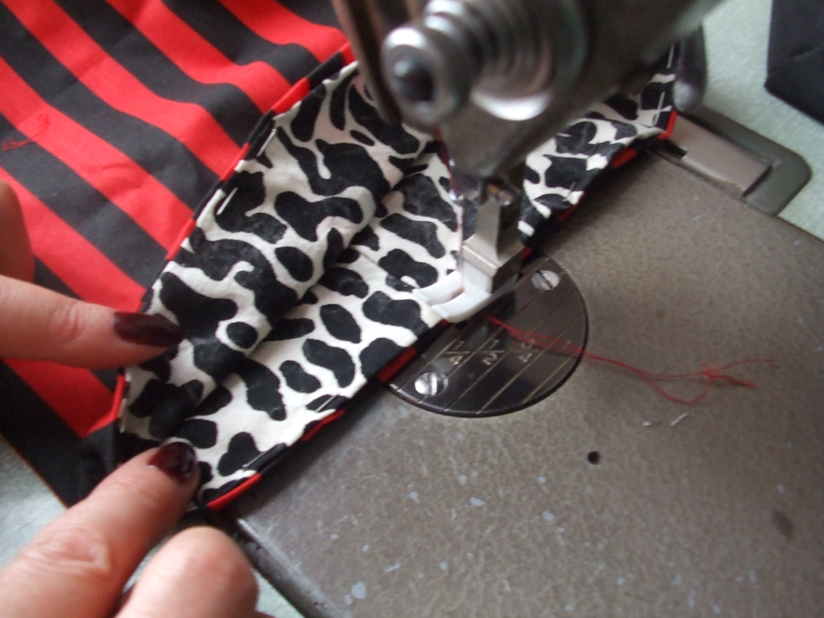 Picture of Sewing the Lining to the Bag