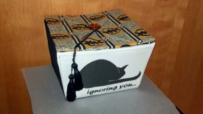 Silk Screened Decorative Box