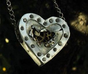 Steampunk Heart Necklace!