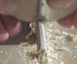 How to Sharpen a Concave Card Scraper
