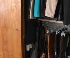 DIY hanging closet rod
