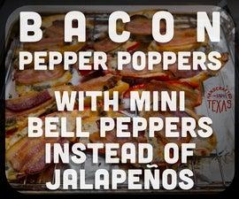 Mini Bell Pepper Baaaacon Poppers (Gluten Free) (Jalapeño Free)