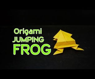 Origami Jumping Frog: How to Make Origami Jumping Frog (Traditional Design)