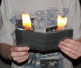duct tape (yay) fire wallet