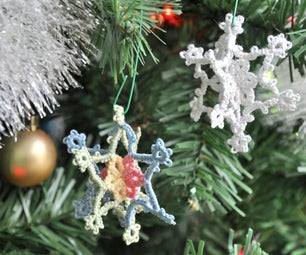 3D Tatted Snowflake Ornament