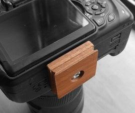Wood Camera Tripod Mount