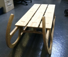 CNC Routed Sled