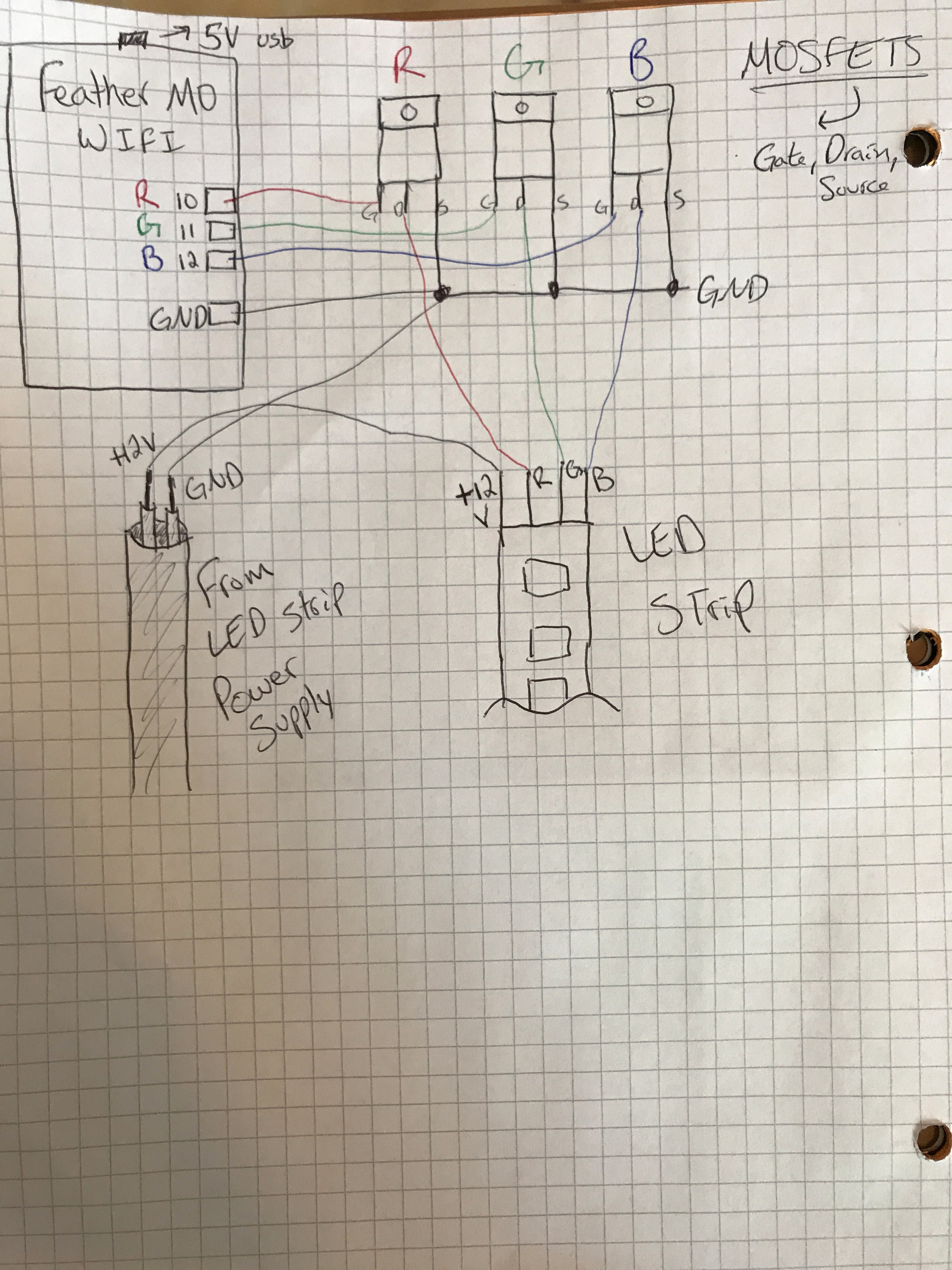 Picture of Wiring the Circuit and Hanging LEDs