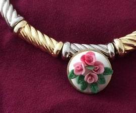 Polymerclay Rose jewelry