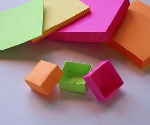 Origami Post-it Box