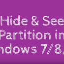 Hide & See Partition in Windows 7/8/8.1