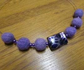 DIY: Felted Yarn Necklace