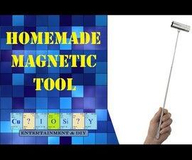 Homemade magnetic pickup tool