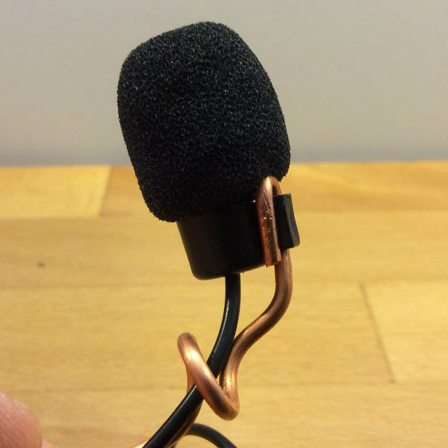 Picture of Thread Mic Wire and Adjust Mic Angle