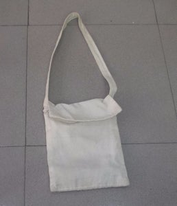 Use an Old Sling Bag.The Bag 25cm Wide, 30cm High. Its String 100cm Long and 2.5cm Wide.