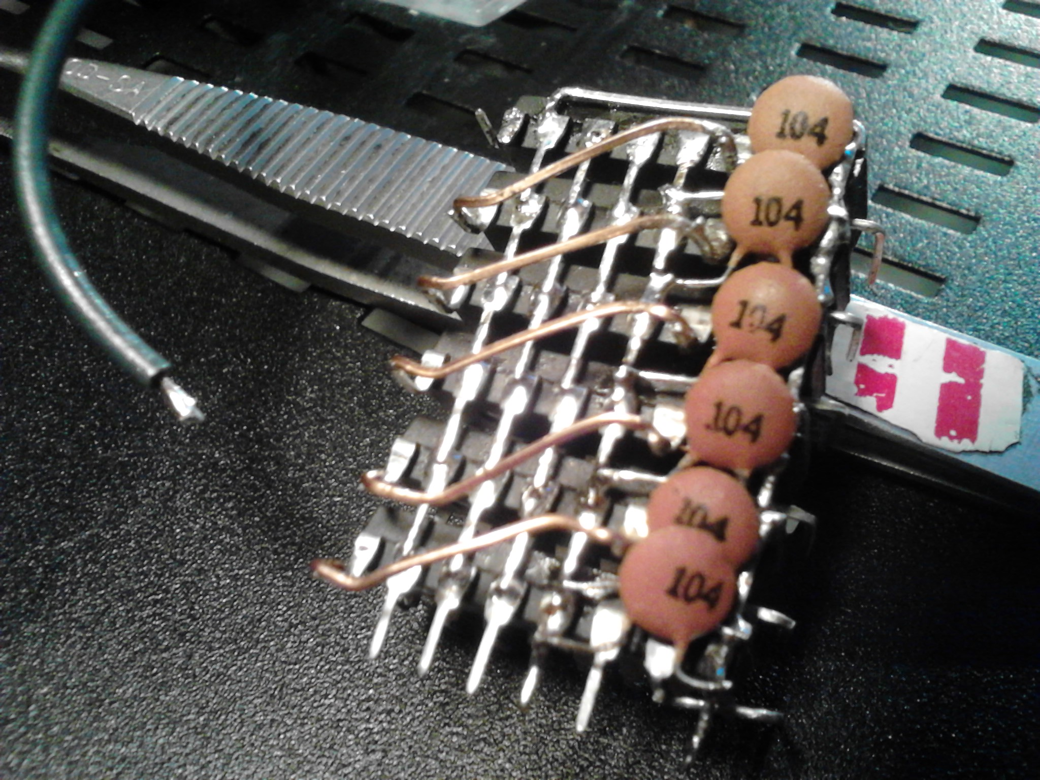 Picture of Piggybacked Shift Registers