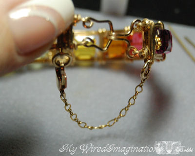 Picture of Adding Safety Chain to a Wire Wrapped Bracelet