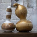 Gilded striped decorative gourds