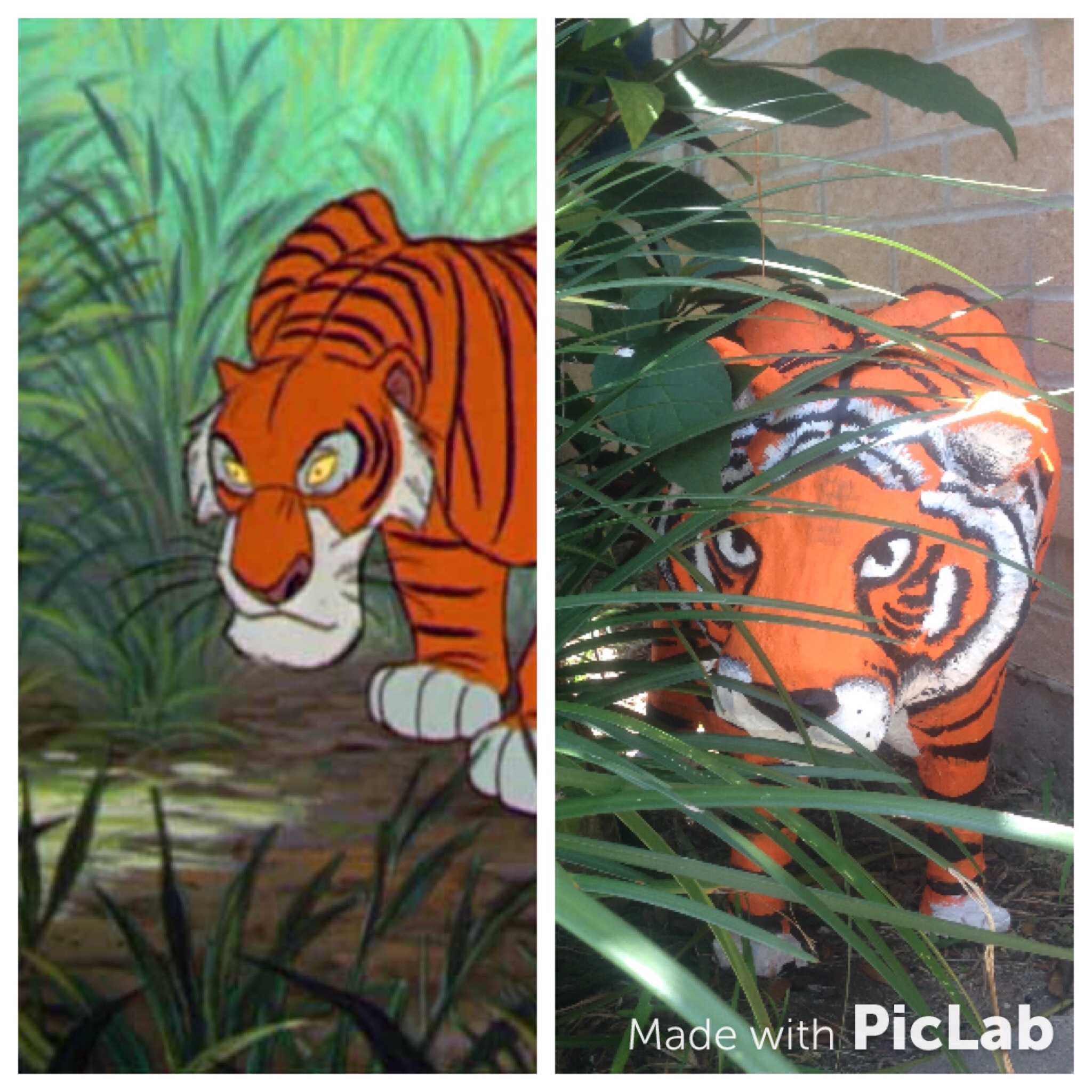 Picture of Shere Khan Inspired Paper Mache Model