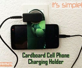 Cardboard Cell Phone Charging Holder