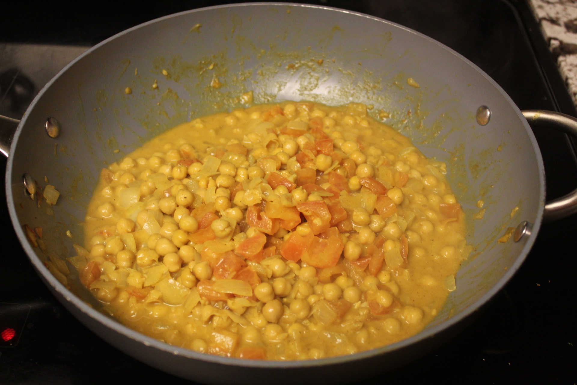 Picture of Add Chickpeas and Coconut Milk