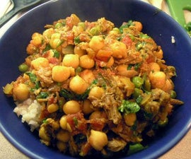 Lamb and Chick Peas over Rice
