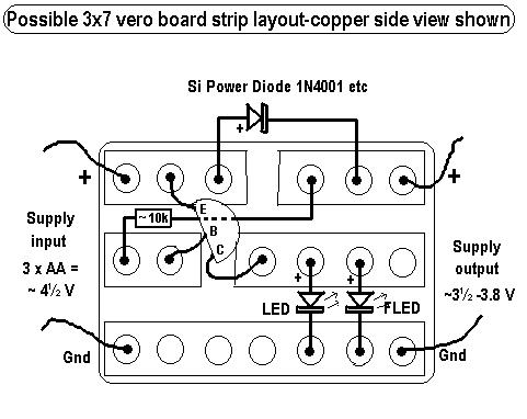 Picture of 3x7 Veroboard Layout