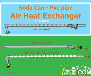 DIY Air Heat Exchanger - Made From Soda Cans and Pvc Pipe