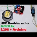 Run Brushless Motor by Arduino + L298