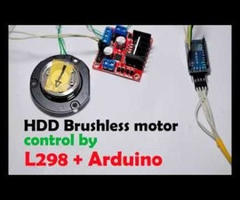 Run Brushless Motor by Arduino + L298