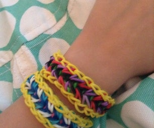 Rainbow Loom Feather Bracelet.