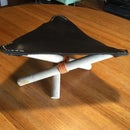 Child Size Leather Tripod Stool