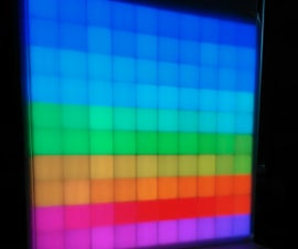 Interactive RGB LED Matrix, Controlled by Twitch Chat.