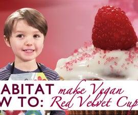 4 Year Baker Shows You How To Make Vegan Red Velvet Cupcakes!