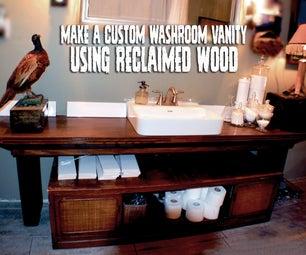 Make a Custom Washroom Vanity With Reclaimed Wood!