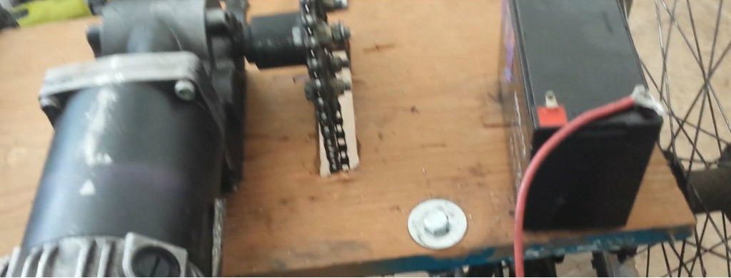 Picture of Mounting the Motor. the Sprocket.
