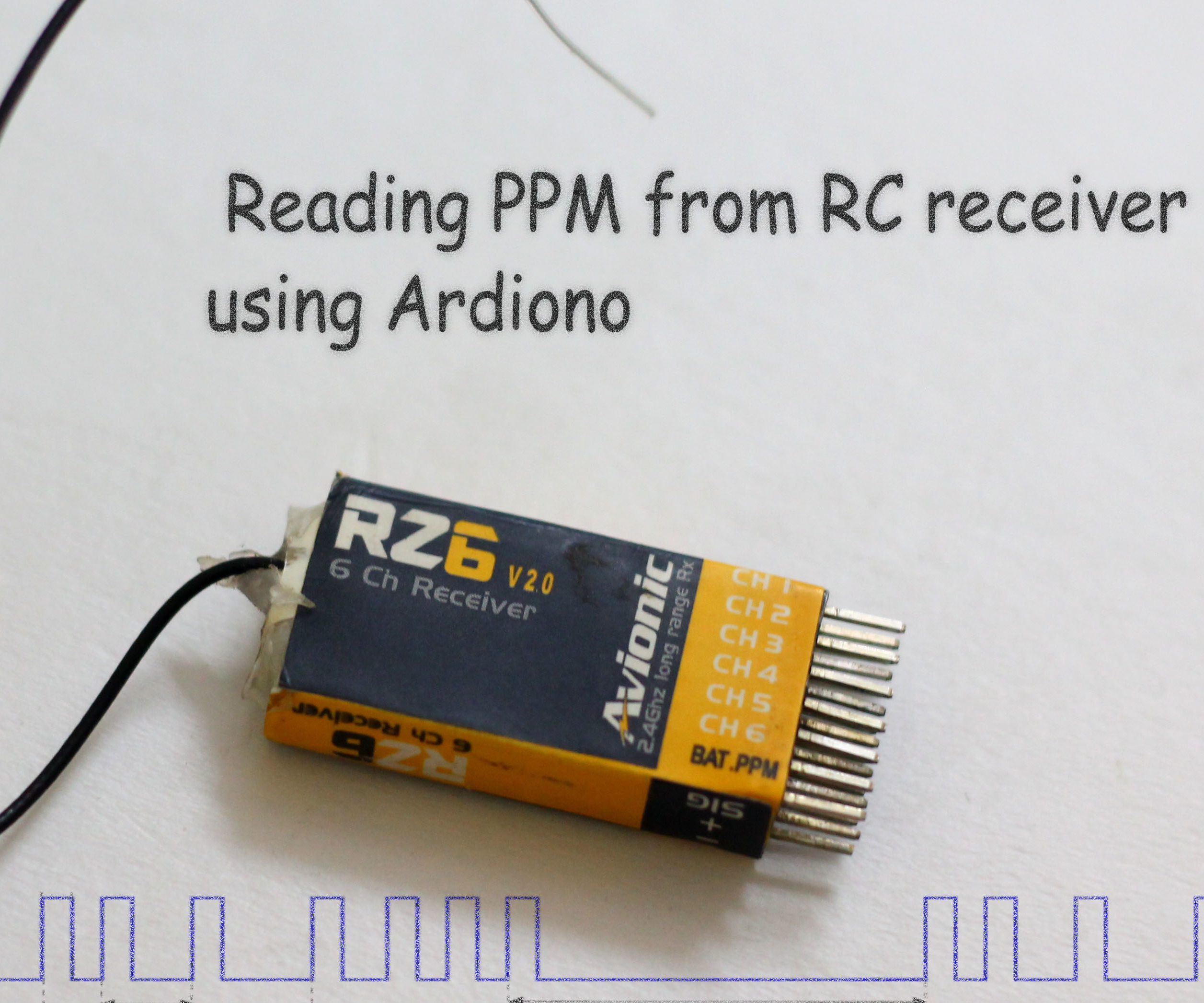 Reading RC Receiver PPM Signal Using Arduino: 3 Steps