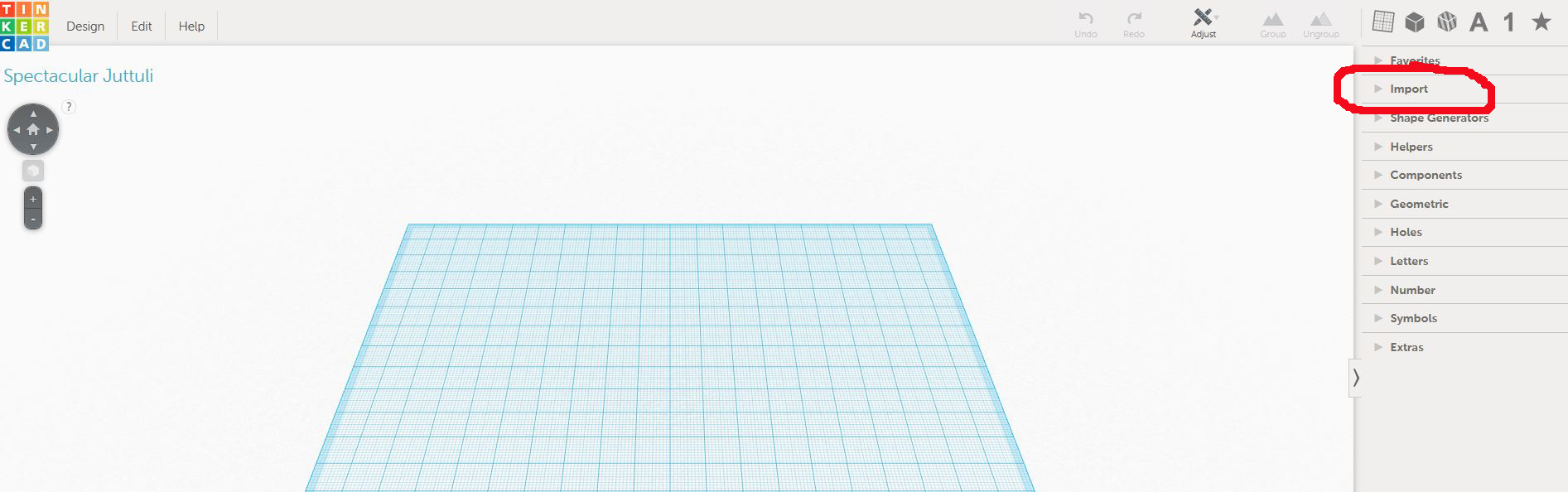 Picture of Import Into Tinkercad and Fix Size