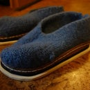 Felted inductively heated house shoes