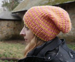 Slouchy Beanie - Knit in the Round