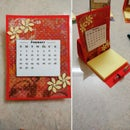 Post It Note Holder With Calendar