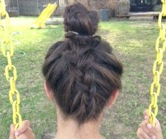 How To Dutch Braid Your Hair Into A Bun