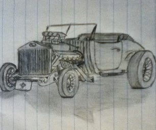 30's Ford Hot Rod Sketch
